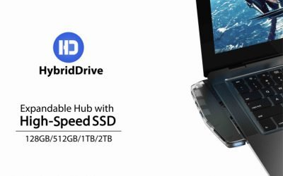 HybridDrive – Expandable Storage Hub with Fast SSD