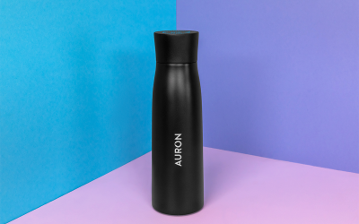 Auron – Self-Cleaning Water Purifying UV-C Smart Bottle