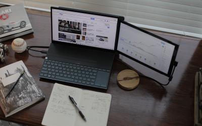 DUEX Lite & DUEX Plus –Portable dual-screen laptop monitors