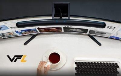 VFZ Curved Light Bar | Adjustable Light for Computer Monitors